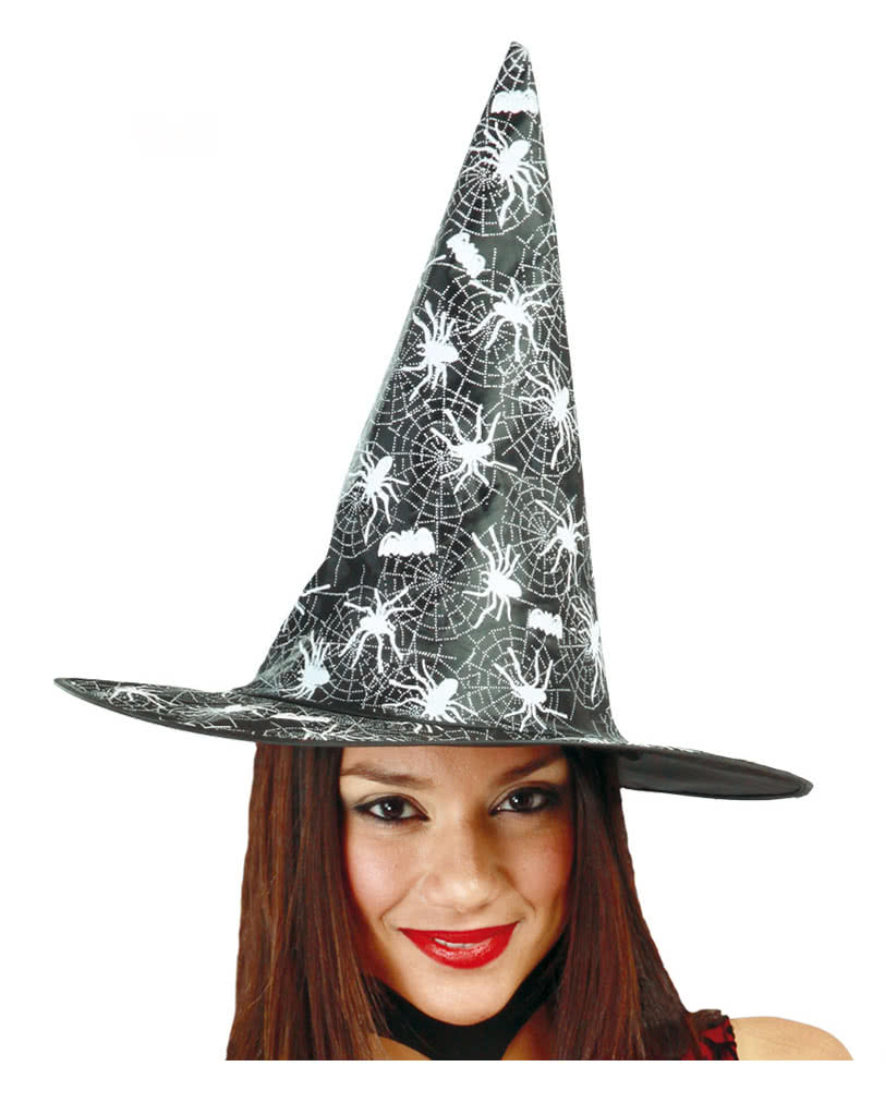 Witch hat with spider motif | Buy Halloween witches hats! | horror ...