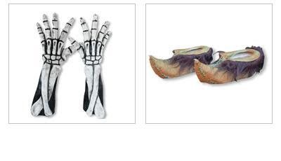 Halloween Gloves and Feet