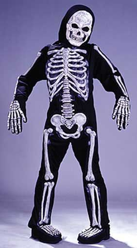 Skeleton 3D costume Glow in the Dark