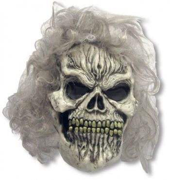 Skull Maske mit Perücke