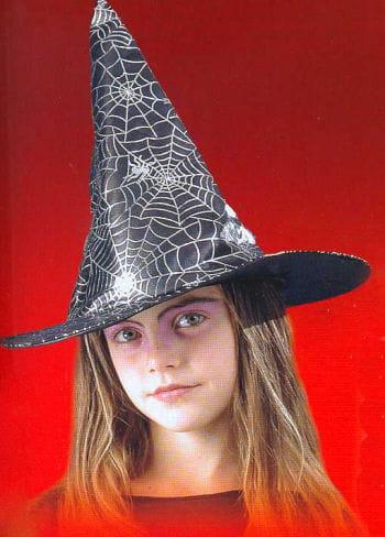 Child Witch Hat with Silver Spiderweb