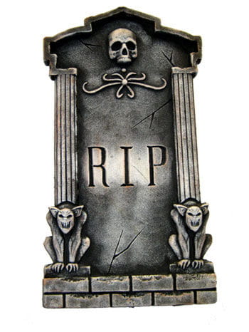 Grave stone with Skull and Gargoyles