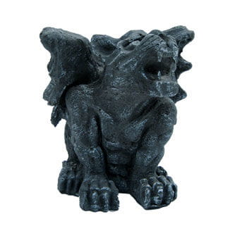 Gargoyle sitting on stone 33cm tall