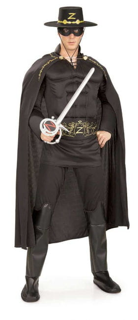 Zorro Muscle Costume Deluxe XL