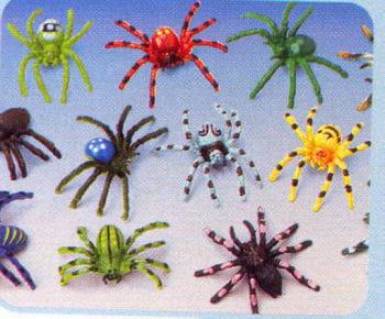 Coloured Spiders 12 PCS