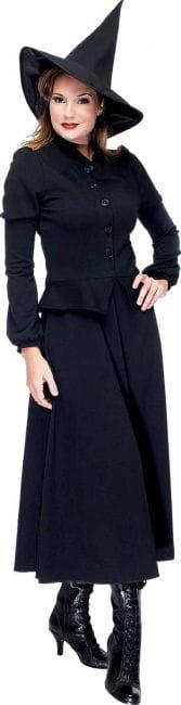 Elegantes Hexen Kostüm schwarz Gr 36 S