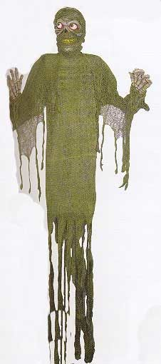Green Ragged Mummy Decoration 182cm