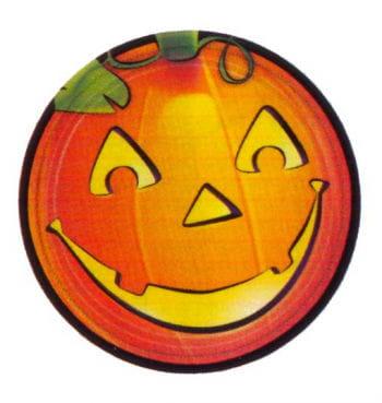 Kürbis Halloweenparty Teller