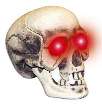 Totenschädel mit blitzenden Sonic Augen