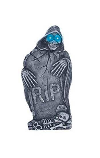 Grabstein seitlicher Ripper mit LED Augen