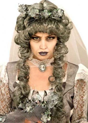 Death Princess curly wig gray