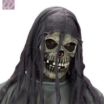 Fetzen-Skelettmaske grau