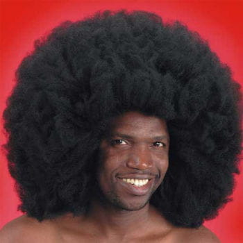 Crazy Disco Afro Wig Black 50cm
