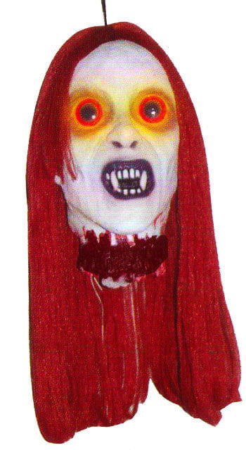 Monster Bride Head Red Hair with LED Lights
