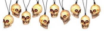 Skull Lichterkette weiß mit Sound