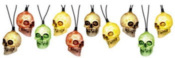 Skull Lichterkette bunt leuchtend mit Sound