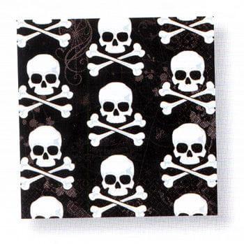 Skull black napkins