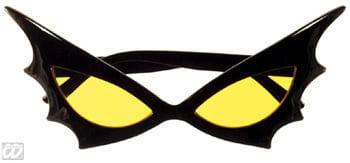 Bat Woman Sonnenbrille gelbes Glas