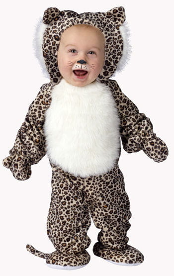 Plüsch Leopard Babykostüm Large