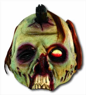 Peghead Zombie Halbmaske