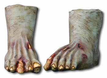 Zombiefüße Dunkel Latex