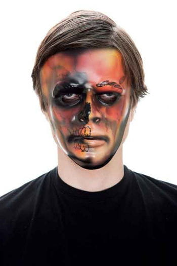 Scary Flame PVC Face Mask