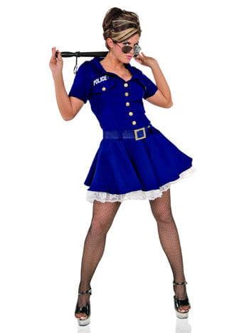 Sexy Gefangenen Wärterin Kostüm Gr. L