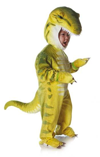 Dino Rex Costume Green M