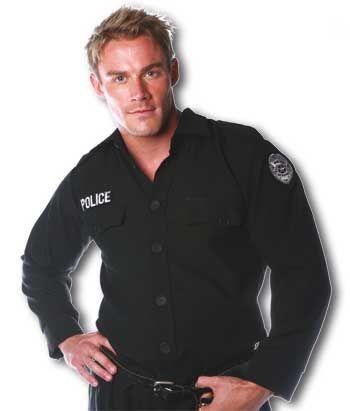 Police Shirt Kostüm Gr. L