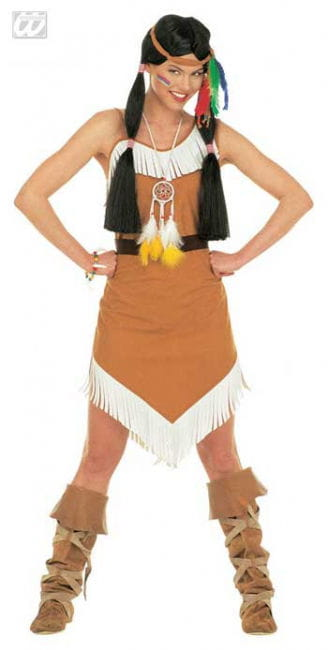 Squaw / Indian Costume. S 36/38
