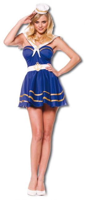 Verspieltes Matrosenmädchen Premium Kostüm Gr. M