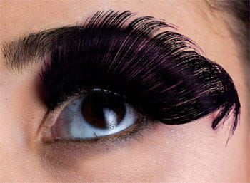 Feather Eyelashes Black