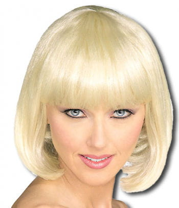 Blond pageboy wig