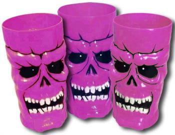 Cups Skull neon pink
