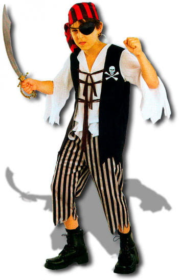 Pirate Captain Skully Child Costume M