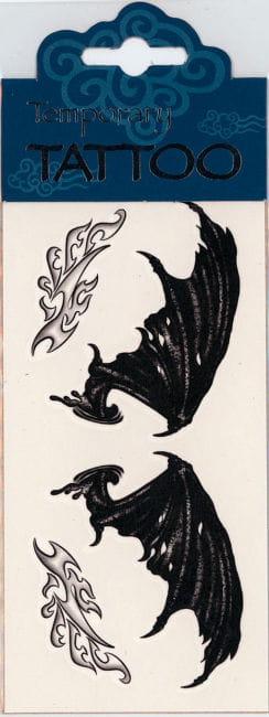 Temporary Tattoo Demon Wings