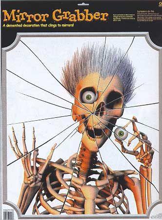 Scary Skeleton Spiegel Folie