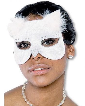Glamour Katzenmaske samt weiß