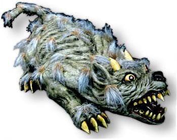 Riesige haarige Monster Ratte