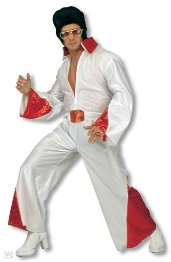 King of Rock costume with red glitter M