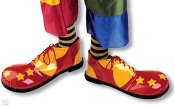 17161-Clown_Schuhe_gelb_und_rot_mit_Ster