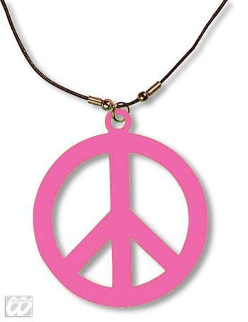 Kunststoff Hippie Kette pink