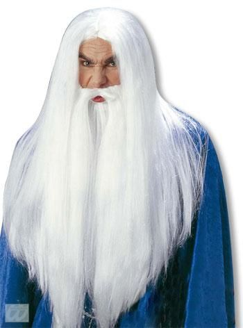 White Wizard Wig and Beard