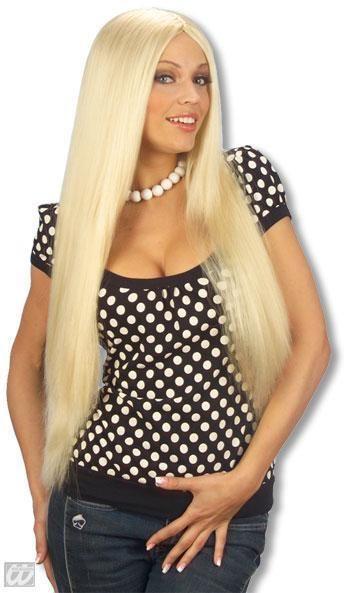 Blonde Langhaar Perücke Daniela
