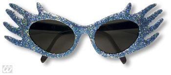 Space Jam Glitter Sonnenbrille Blau