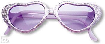 Mädchen Herz Sonnenbrille Violett