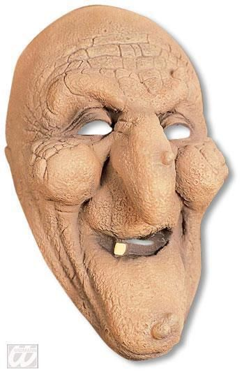 Grinning Witch Half Mask