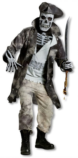 Geisterpirat Skelettkostüm