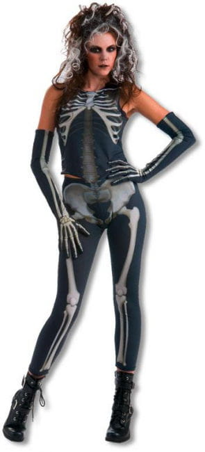 Gruseliges Skelett Girl Kostüm
