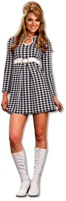 plaid 60s Mod dress